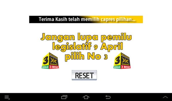 PKS Vote for President