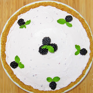 No Bake Blackberry Cheesecake