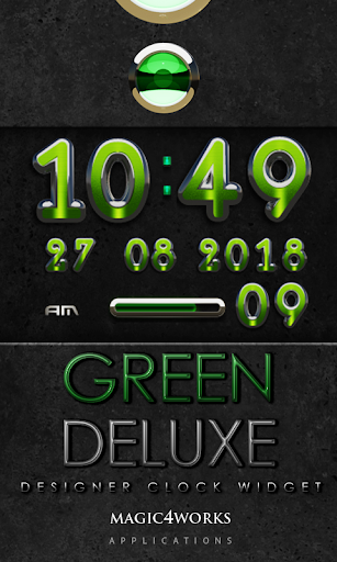 Green Deluxe Digital Clock