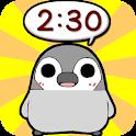 ぺそぎん時計 デジタル時計ウィジェット無料ペンギン育成ゲーム