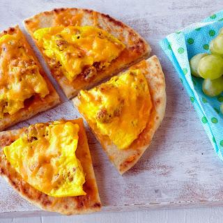 Microwave Breakfast Flatbread Pizza.