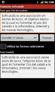 Traductor Softcatalà - screenshot thumbnail