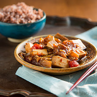 Eggplant and Tofu in Spicy Garlic Sauce.