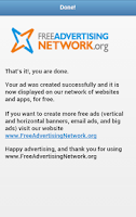 Screenshot of Free Advertising Network