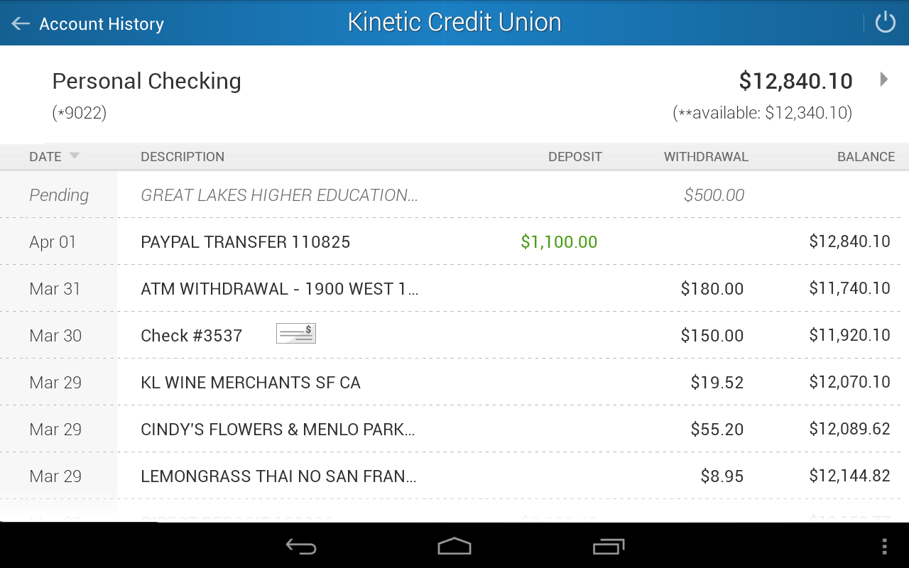 Kinetic Credit Union - screenshot