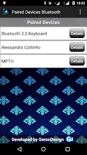 Paired Bluetooth Devices- screenshot thumbnail