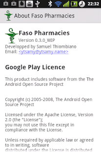 Faso Pharmacies- screenshot thumbnail