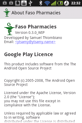 Faso Pharmacies - screenshot