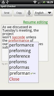 Spell Checker (+voice input) - screenshot thumbnail