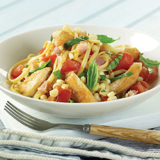 Chicken Linguini With Fresh Corn and Summer Tomatoes