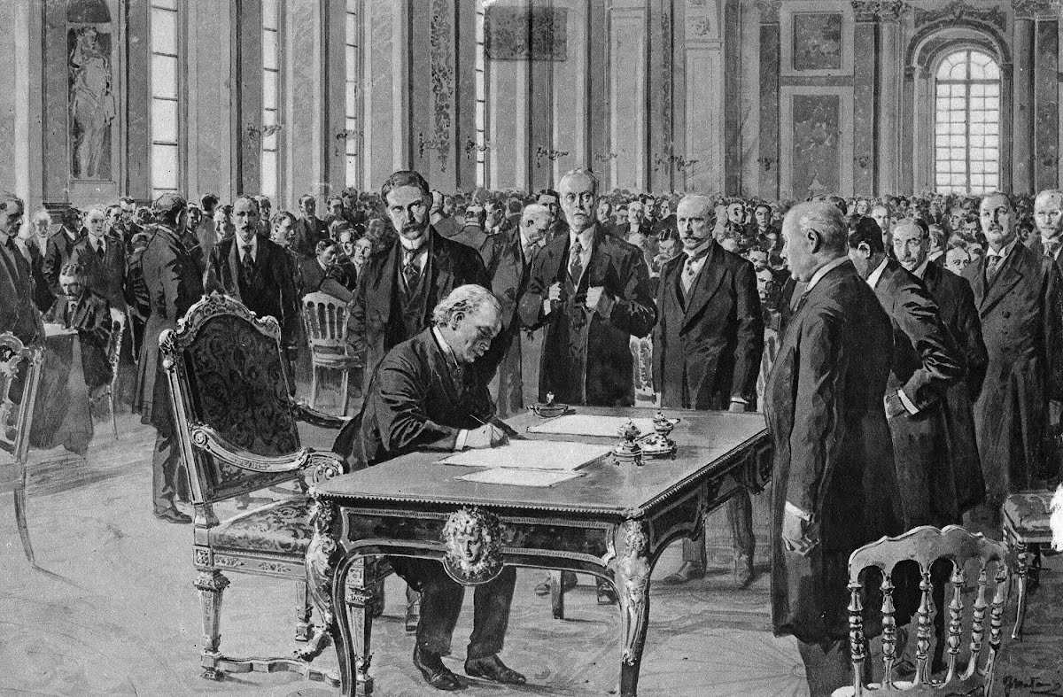 the treaty of versailles a formal agreement to end the war