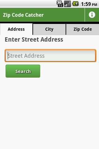 Zip Code Catcher- screenshot