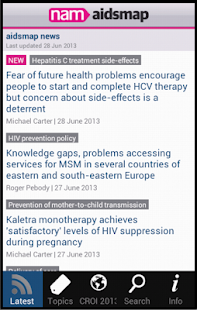 aidsmap news- screenshot thumbnail