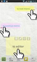 Screenshot of Scroll Memo Note Widget Lite