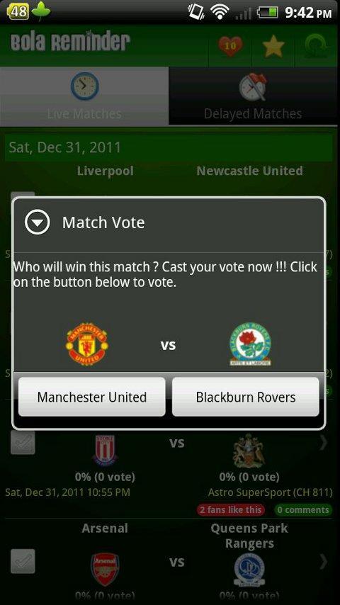 Bola Reminder - Malaysia- screenshot