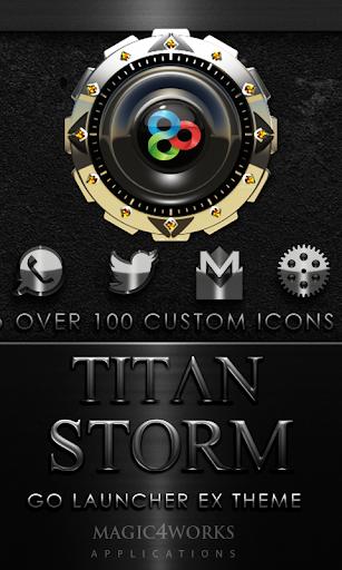 GO Launcher Theme Titan Storm