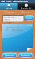 Screenshot of Fake & Real SMS Scheduler