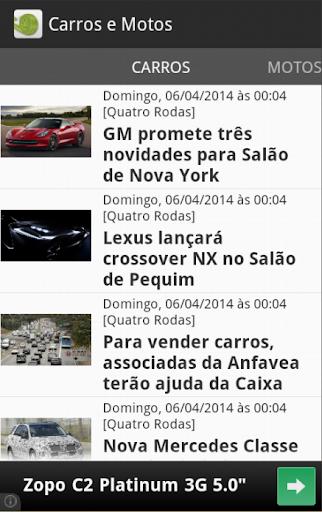 Carros e motos - Notícias