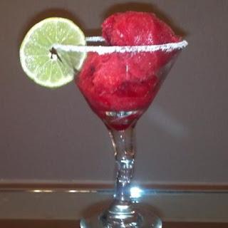 Prickly Pear Margarita Sorbet.