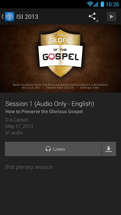 Emmaus Bible College- screenshot