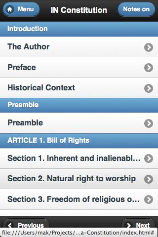 Indiana Constitution Annotated