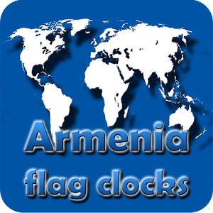 Armenia flag clocks