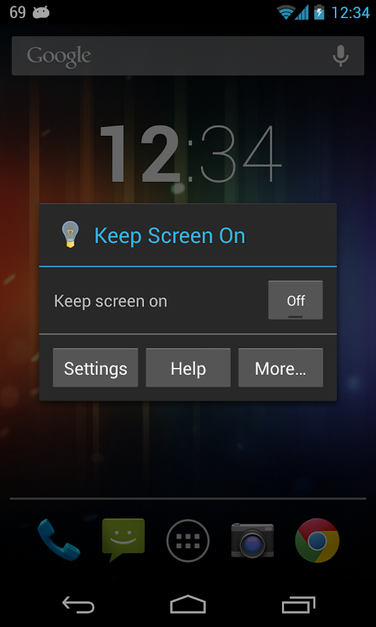 Keep Screen On - screenshot