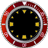 Red Rolex Clock Widget