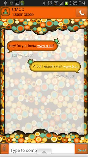 GO SMS THEME FallWeather