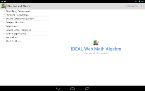 IDEAL Web Math Algebra- screenshot thumbnail