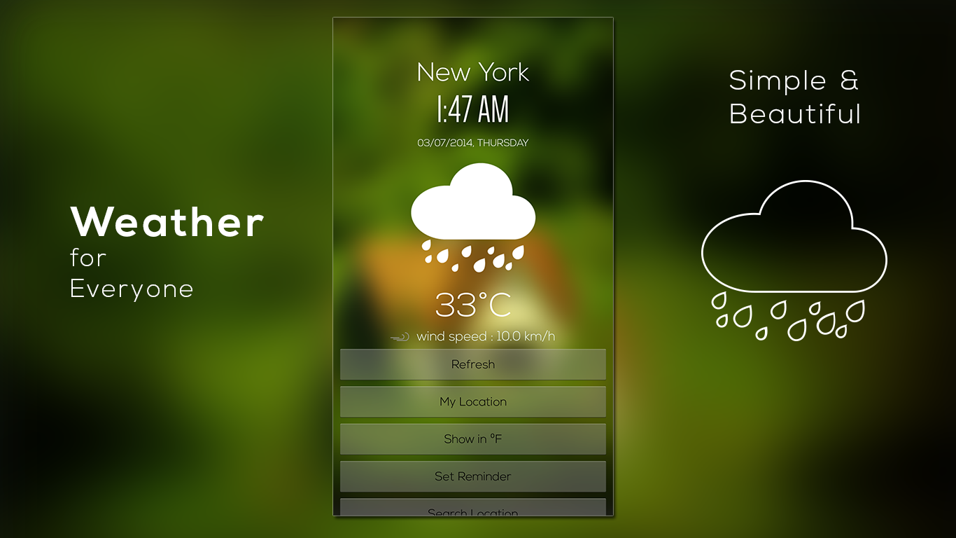 Weather & Clock- screenshot