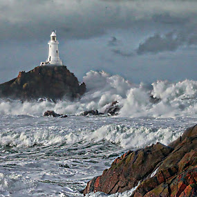 CORBIERE by Stewart JOHN Lobb - Landscapes Waterscapes ( lobb, stewart, jersey, islands, storm, channel, HDR, Landscapes )