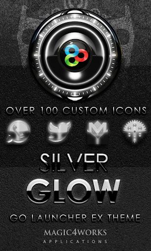 GO Launcher Theme Silver Glow