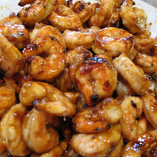 Sweet and Spicy Honey Grilled Shrimp.