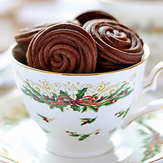 Espresso Rose Spritz Cookies.