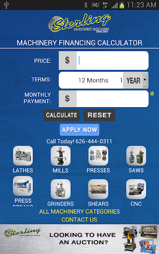 Machinery Financing Calculator