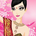 Make Indian girl Dress up icon