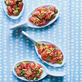 Tuna Tartare with Ginger and Toasted Sesame.