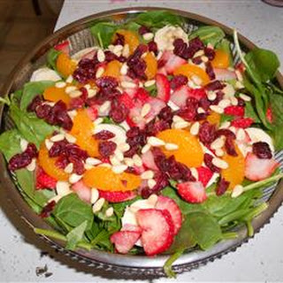 The Perfect Sunday Brunch Spinach Salad.