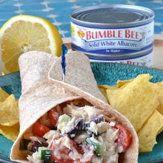 Greek Tuna Salad Wraps.