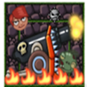 Zombie shelling icon