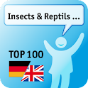 100 Insects, Reptils Keywords logo