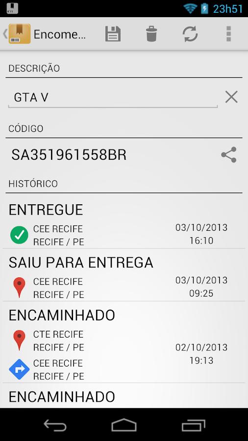 Correios: Rastrear Encomendas - screenshot