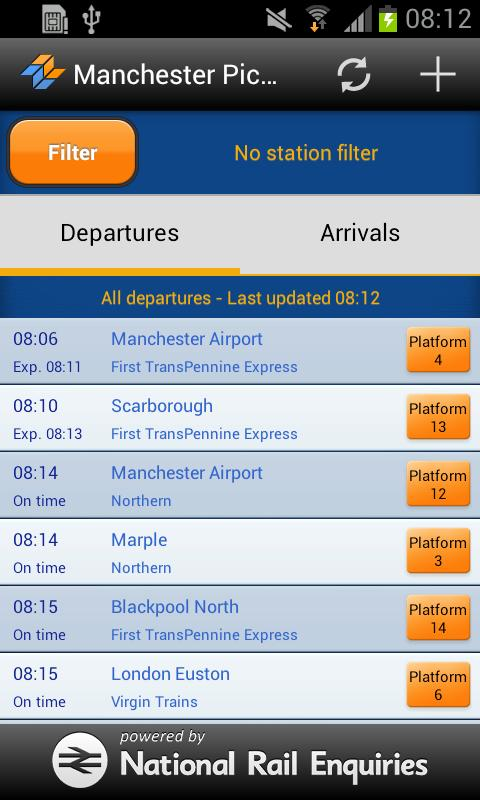 myTrains UK Live Train Times- screenshot