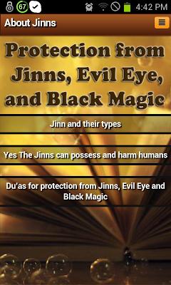 Jinns: types,harm & protection - screenshot