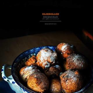 Oliebollen / Dutch Donuts with Saffron and Cardamom