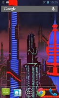 Screenshot of Space City Live Wallpaper Full