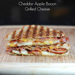Cheddar Apple Bacon Grilled Cheese.