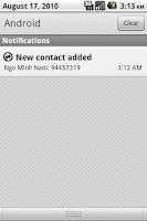 Screenshot of Push Contacts