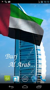 3D UAE Flag Live Wallpaper + - screenshot thumbnail